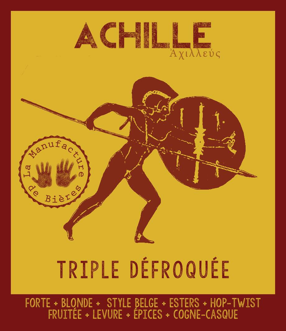étiquette d'Achille Triple Défroquée de la Manufacture de Bières