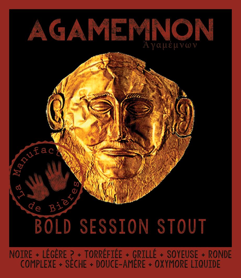 étiquette d'Agamemnon Bold Session Stout de la Manufacture de Bières