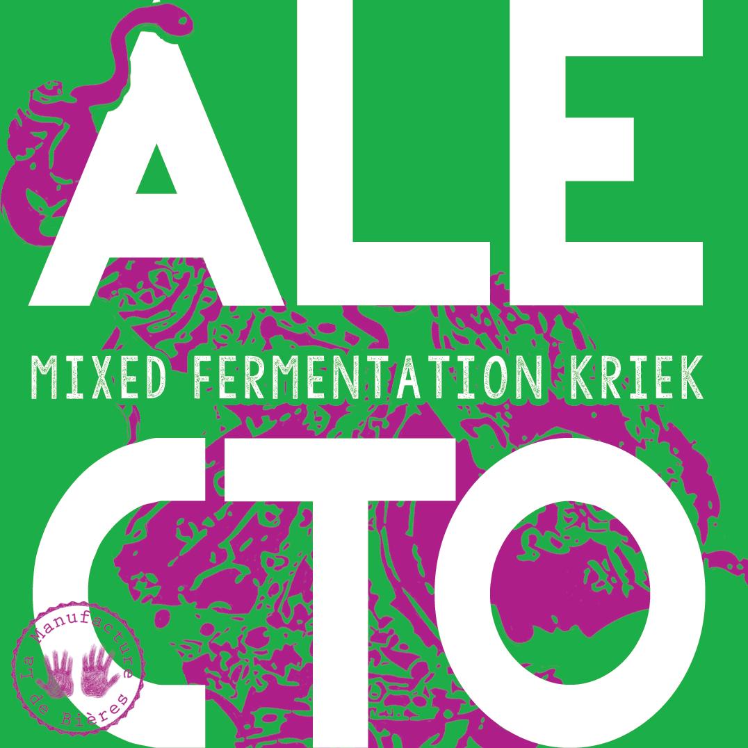 étiquette d'Alecto#1 Mixed Fermentation Kriek de la Manufacture de Bières