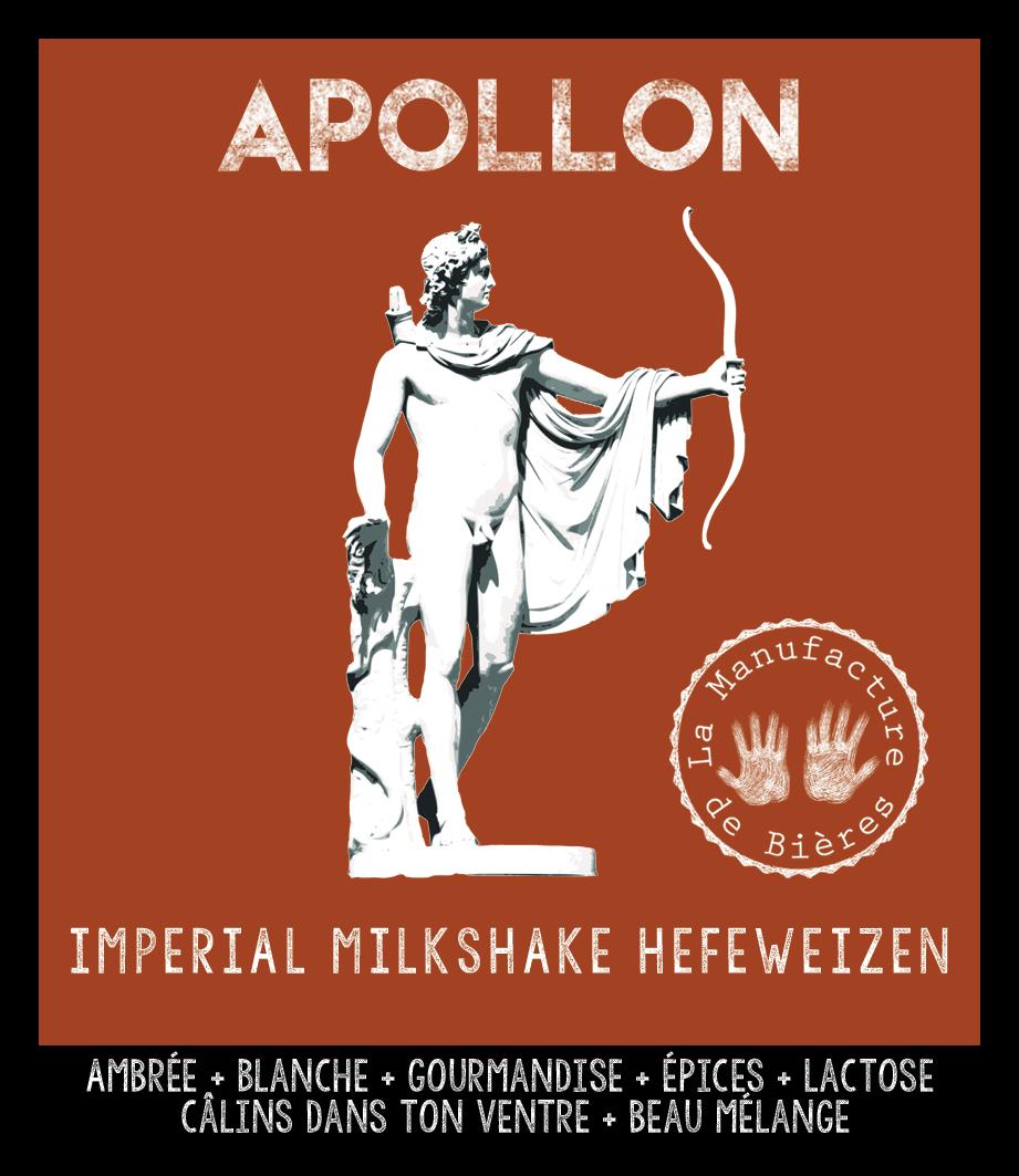 étiquette d'Apollon Milkshake Hefeweizen de la Manufacture de Bières