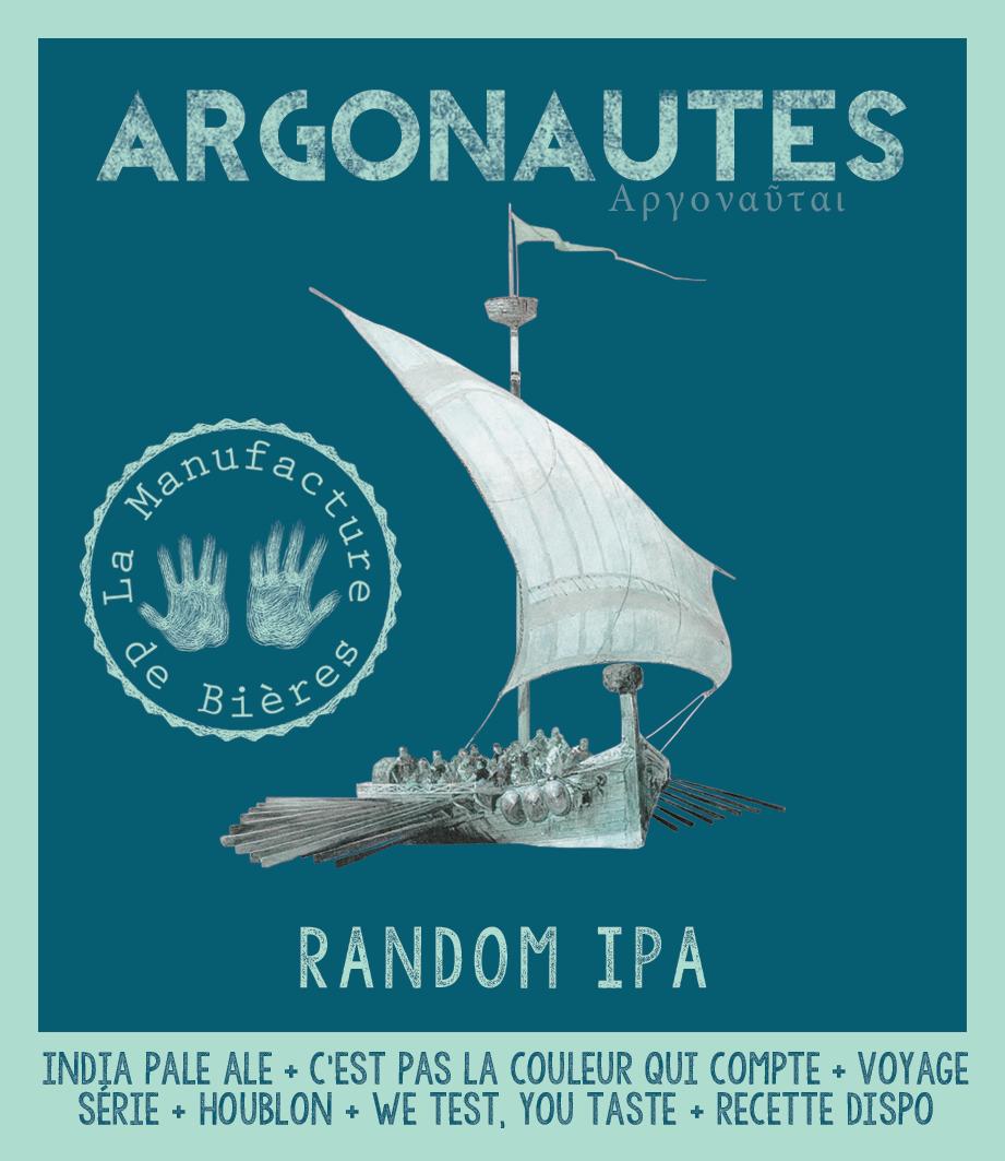 étiquette d'Argonautes Random IPA de la Manufacture de Bières