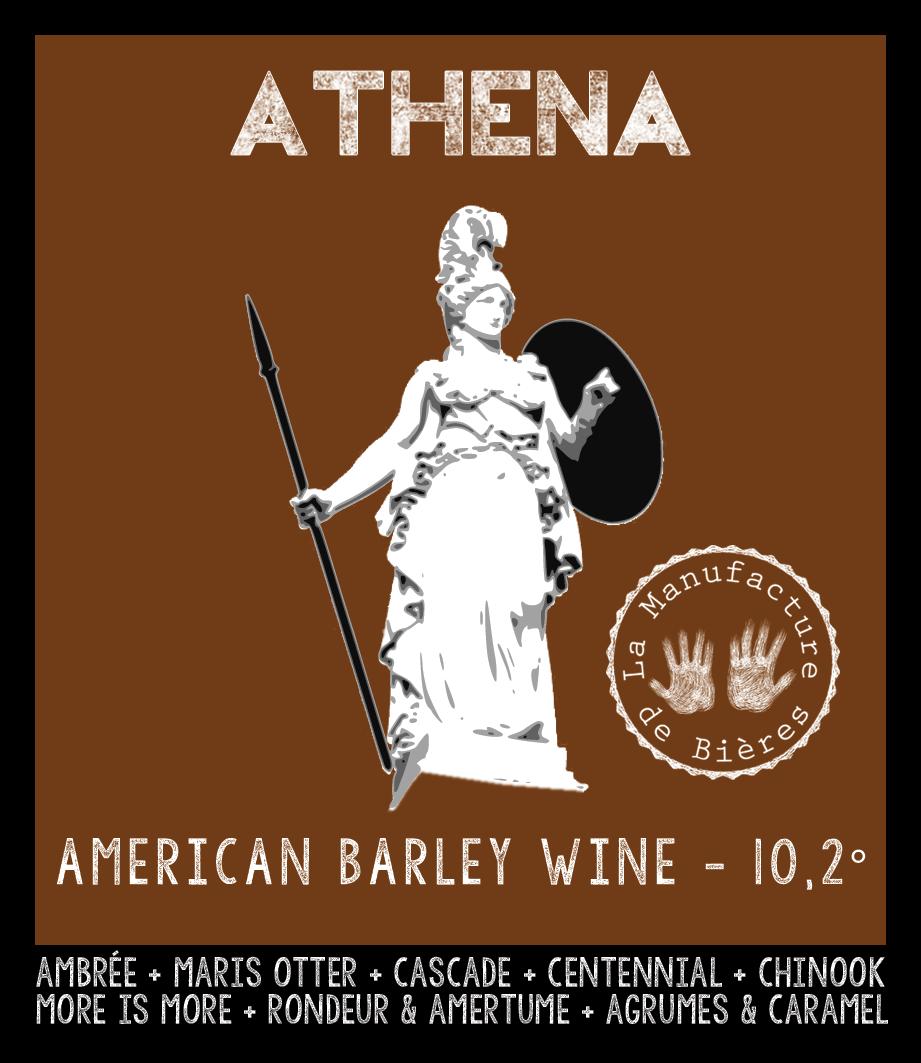 étiquette d'Athéna American Barley Wine de la Manufacture de Bières