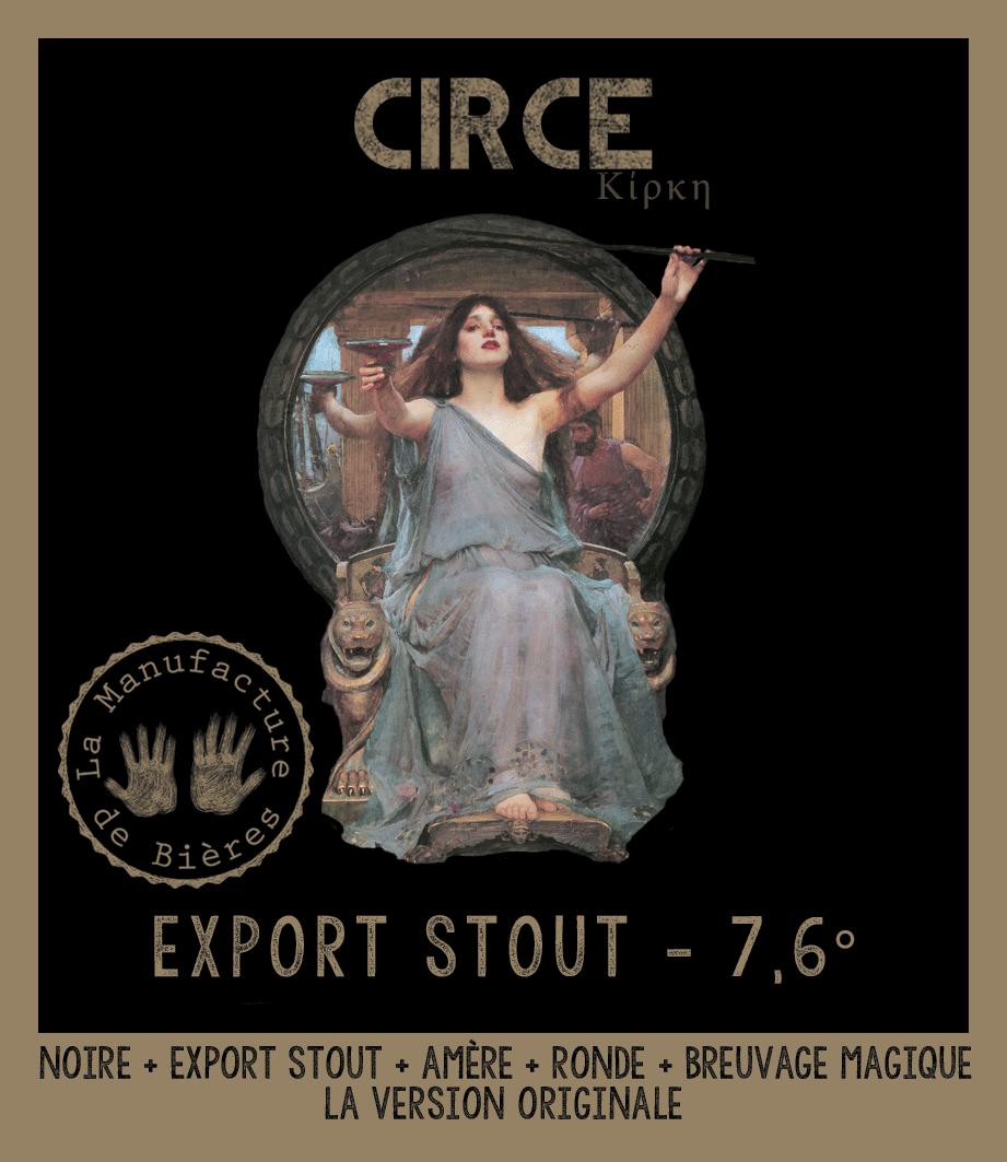 étiquette de Circé Stout de la Manufacture de Bières