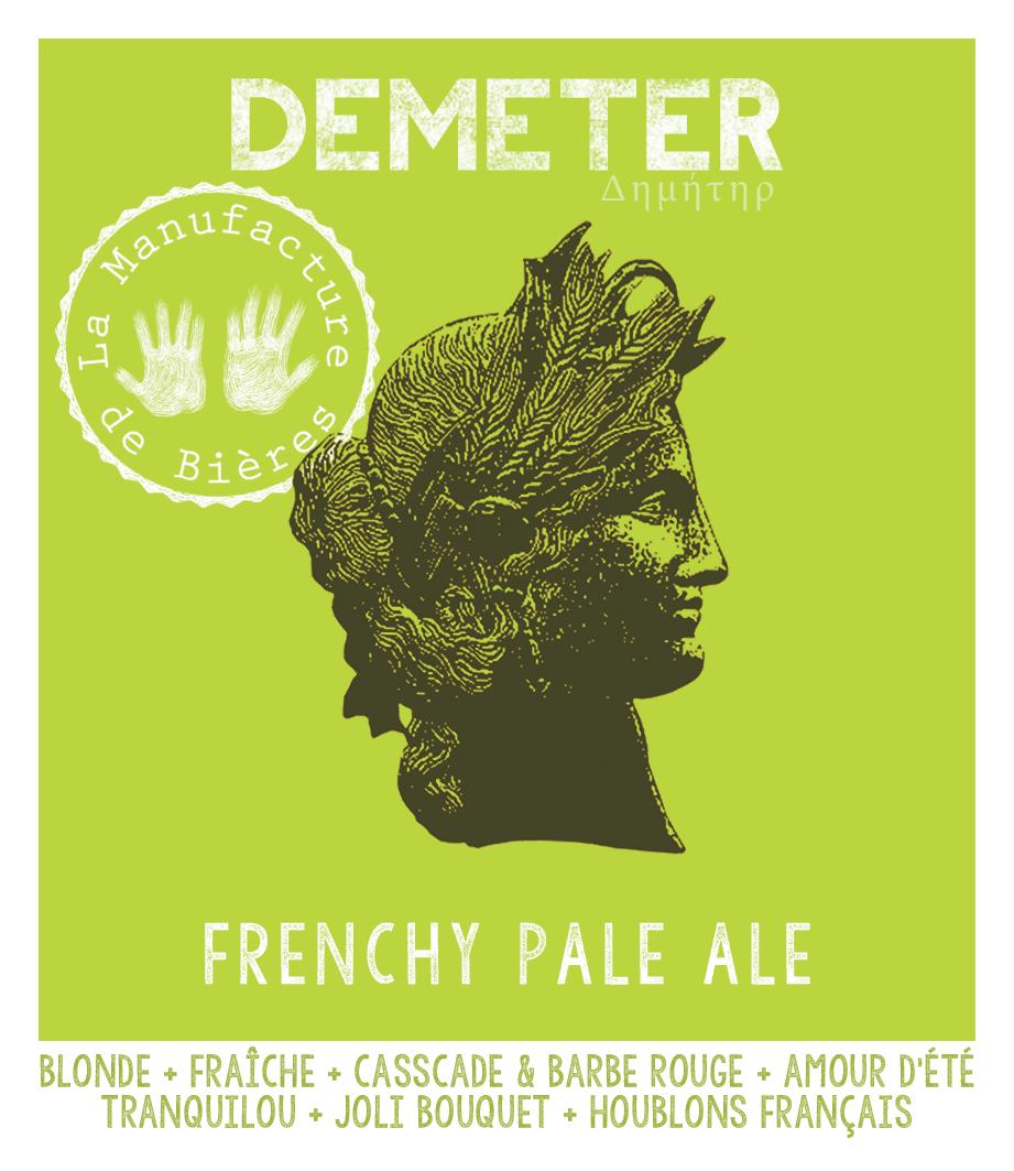 étiquette de Démeter Frenchy Pale Ale de la Manufacture de Bières