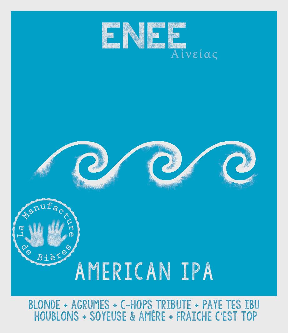 étiquette d'Enée American IPA de la Manufacture de Bières