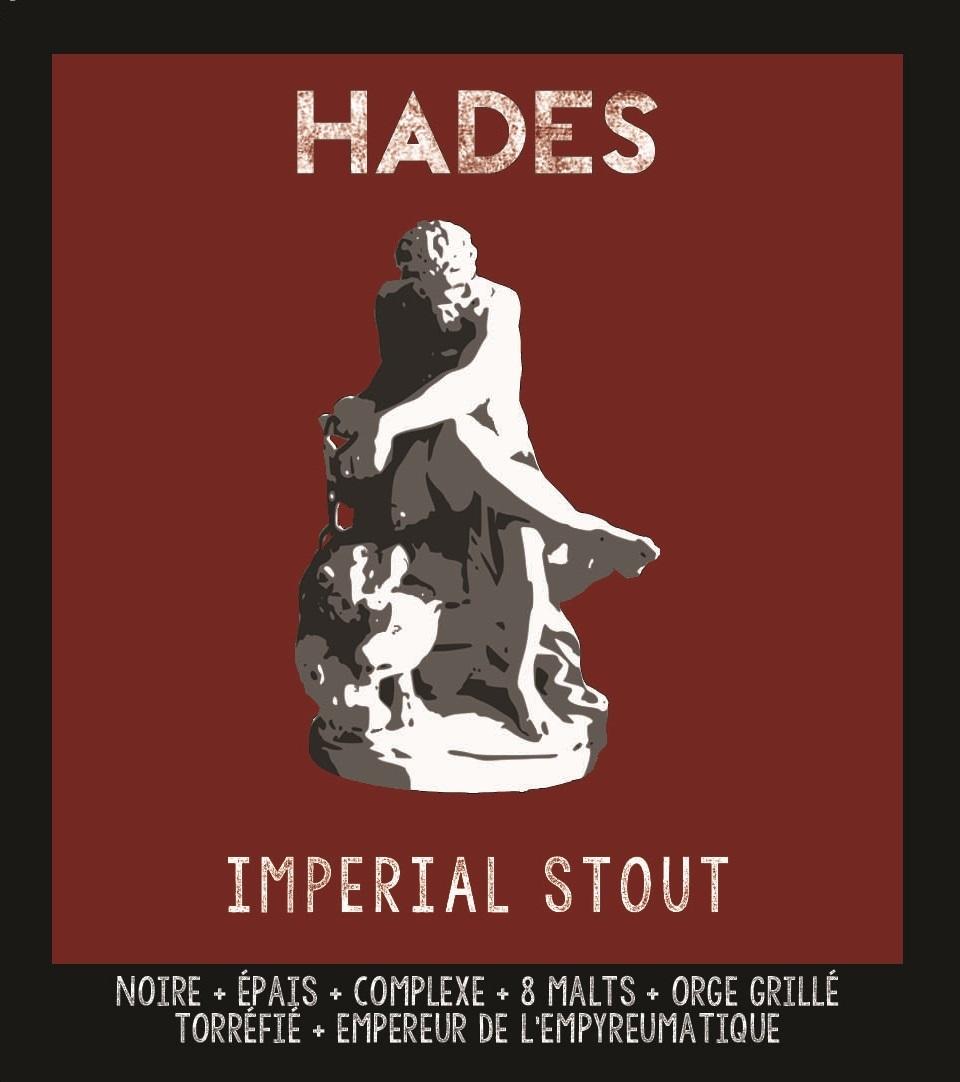 étiquette d'Hadès - Imperial Stout de la Manufacture de Bières