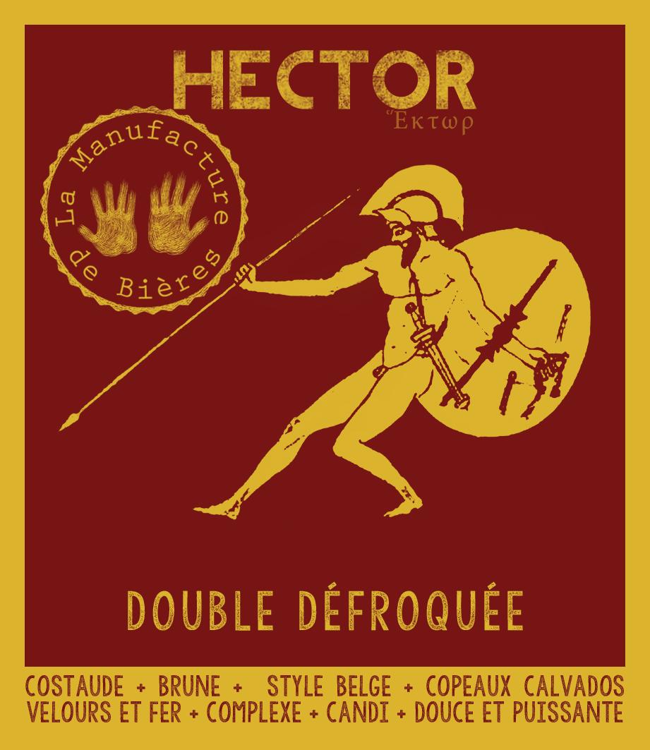 étiquette d'Hector Double Défroquée de la Manufacture de Bières