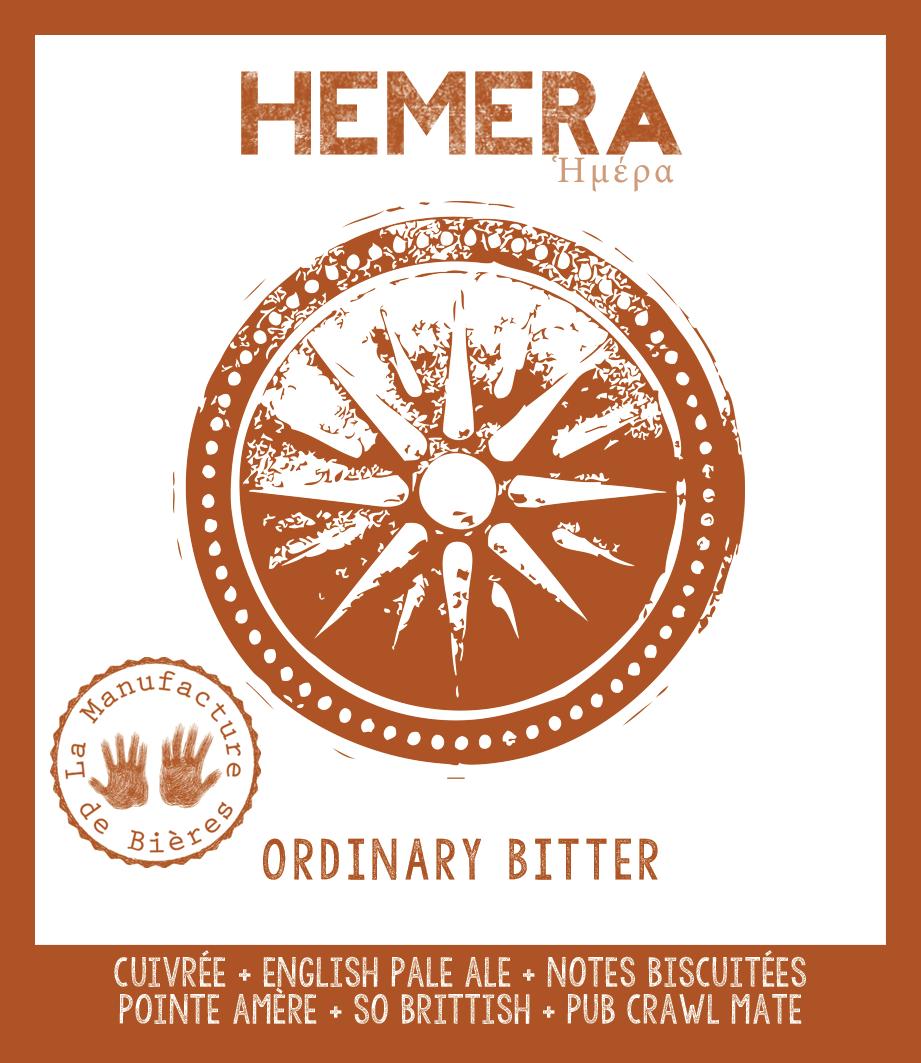 étiquette d'Héméra - Ordinary Bitter de la Manufacture de Bières