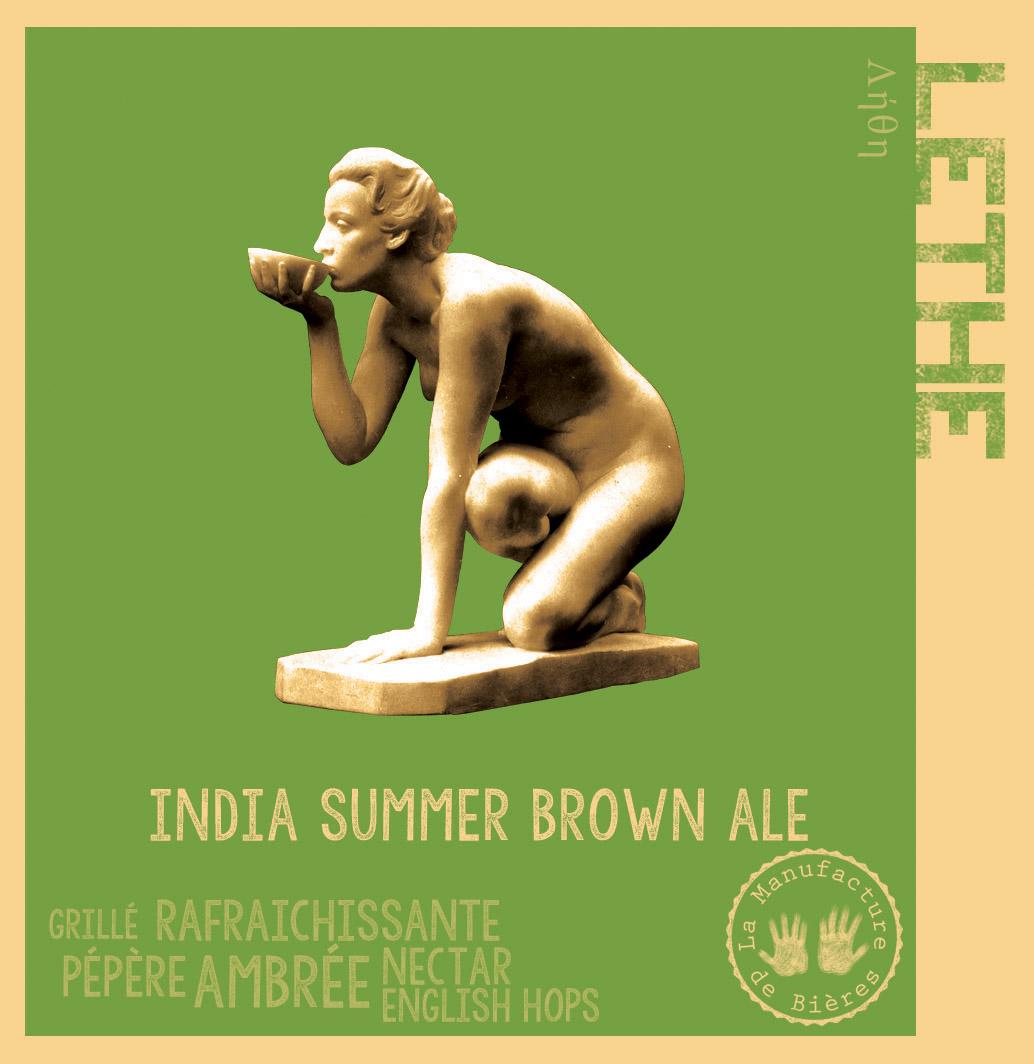 étiquette de Léthé India Summer Brown Ale de la Manufacture de Bières