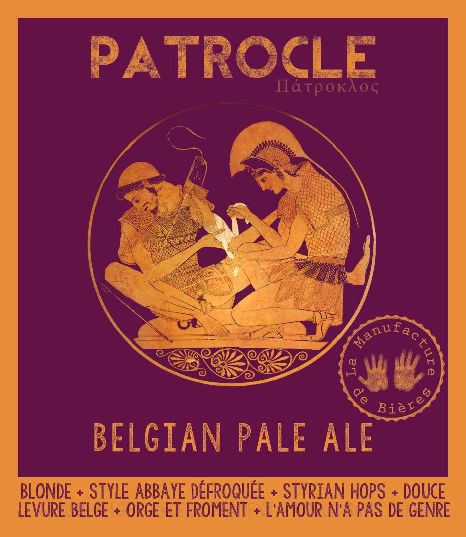 étiquette de Patrocle Belgian Pale Ale de la Manufacture de Bières