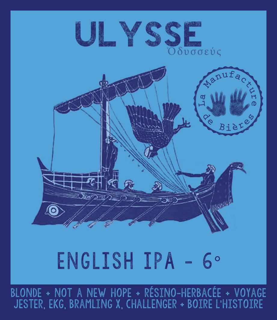 étiquette d'Ulysse English IPA de la Manufacture de Bières