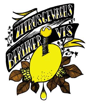 étiquette de la Berliner Vis Zitrusgewächs de Crafty Brewpub et de la Manufacture de Bières