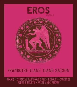 étiquette de l'Eros Framboise Ylang Ylang Saison de la Manufacture de Bières