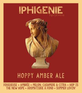étiquette d'Iphigénie Hoppy Amber Ale de la Manufacture de Bières