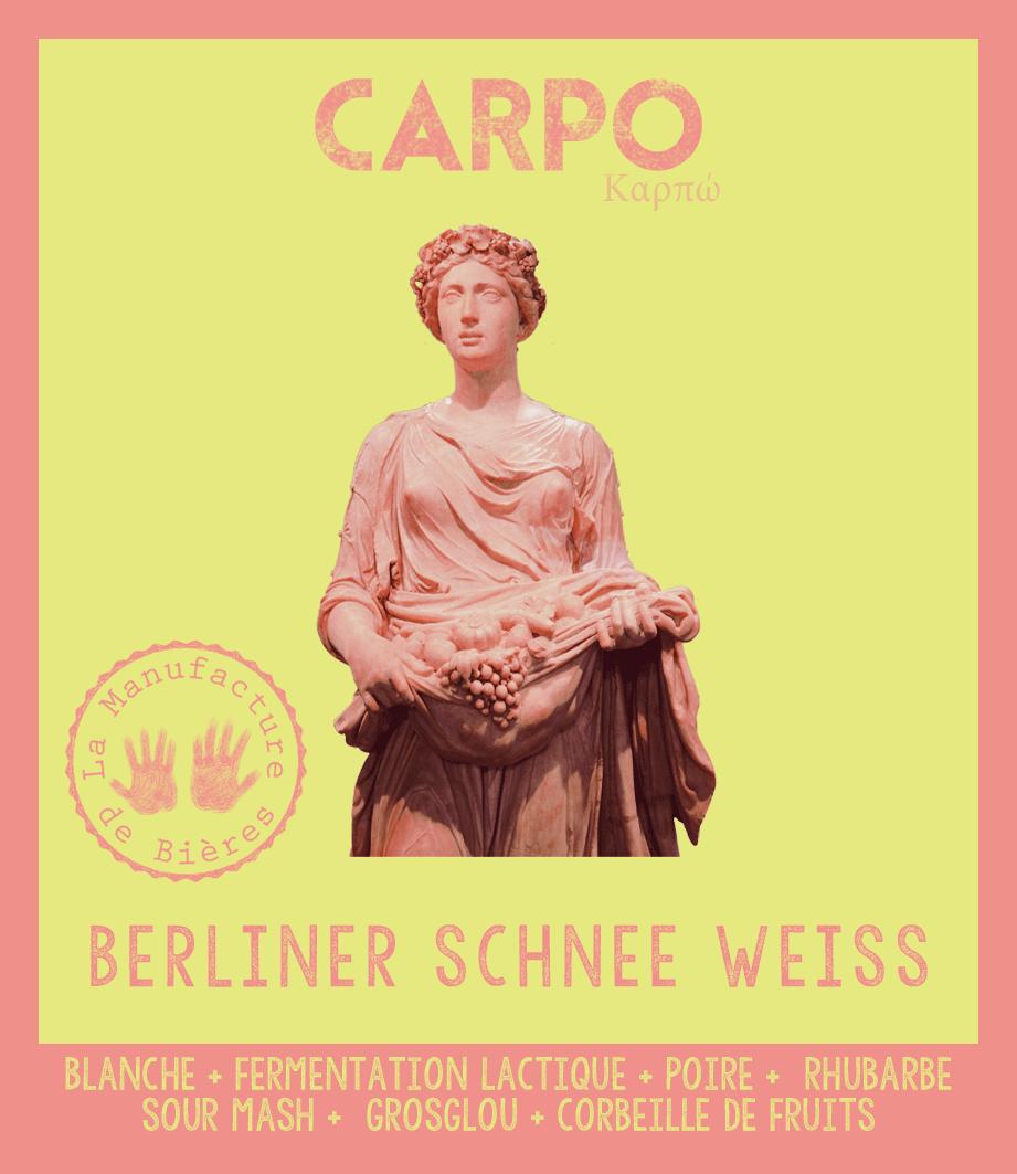 étiquette de Carpo - Berliner Schnee Weissede la Manufacture de Bières